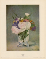SOUBRY :Prent/Image 12–2: E. MANET : ## Bloemen / Fleurs ## - Prints & Engravings