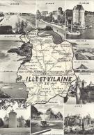 ILLE ET VILAINE Multivues CPA 1619 - France