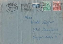 Bizone Brief Mif Minr.106, 107 Hamburg 26.10.49 - Bizone
