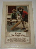 Vintage Postcard - Cricket Game In The Street - Sincere Birthday Wishes - Ed. H.B. Ltd., London - Postcards