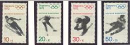 BL3-4 GERMANY 1971 MI  680-683 SPORT,OLYMPICWS SAPORRO 1972 SKI JUMPING, SPEED SKATING, ICE HOCKEY MNH, POSTFRIS, NEUF** - Winter 1972: Sapporo