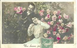 UN BAISER  POUR ??????  Envoyée De LA TOUR D´AUVERGNE En 1908 - Cartes Postales