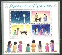 Ile Christmas. ( Océan Indien )  ''Loin Dans Une Crèche'' (Away In A Manger)  Bloc Feuillet Neuf **. BF # 2 - Christmas