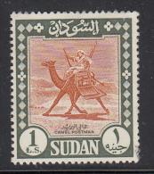 Sudan Used Scott #159a 1pd Camel Postman, No Watermark - Soudan (1954-...)