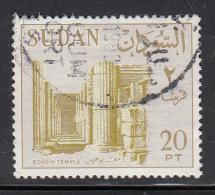 Sudan Used Scott #157a 20p Bohein Temple, 1500 BC, No Watermark - Soudan (1954-...)