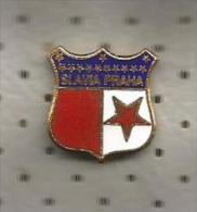 Football Club SLAVIA PRAHA Czechoslovakia Old Enamel Pin - Football