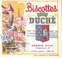 "BUVARD : Biscottes ""Duché"" CHABLIS. - Biscotti"