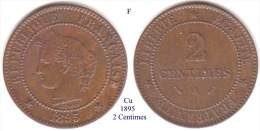 F-1895 A, 2 Centimes - France