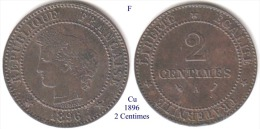 F-1896 A, 2 Centimes - France