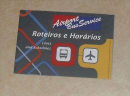 Dépliant Airport Bus Service Parcours Et Horaires SAO PAULO Brésil - World