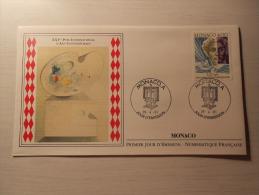 ENVELOPPE - MONACO - XXVe Prix International D´Art Contemporain - 1er Jour - 26/04/1991 - FDC