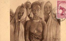 RUANDA 1936.- Jeunes Filles Watutsi. - Rwanda