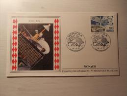 ENVELOPPE - MONACO - Europa - Eutelsat - 1er Jour - 26/04/1991 - FDC