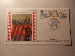 ENVELOPPE - MONACO - J.O. Barcelone 1992 - Relayeuses - 1er Jour - 26/04/1991 - FDC
