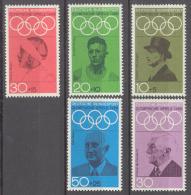 BL3-36 GERMANY 1968 MI 561-565 SPORT, SUMMER OLYMPICS, MEXICO 1968. MNH, POSTFRIS, NEUF**. - Zomer 1968: Mexico-City
