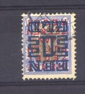 Pays-Bas  :  Mi  137 A (o)   Dentelé 12 1/2 - Oblitérés