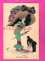 MODE - Illustration De G. JOUAN ? -- La Dernière Mode - Carte Vierge -The Last Fashion, Enormous Hats - Moda