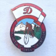 Badge / Pin (Cycling) - Romania Mountain Race 1956 - Cycling