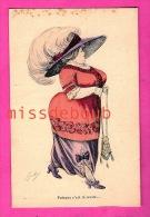 MODE - Illustration De POULAY- Puisque C'est La Mode - Carte Vierge - Because It Is The Fashion, Big Lady In Skirt Pant - Moda