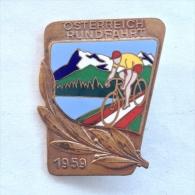 Badge / Pin (Cycling) - Austria Tour 1959 - Cycling
