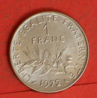 FRANCE  1  FRANCS  1972   KM# 925,1  -    (Nº03802) - H. 1 Franc