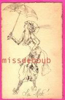 MODE - Illustration Croquis Unique - écrite 1911 - Dos Précurseur - Moda