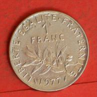FRANCE  1  FRANCS  1977   KM# 925,1  -    (Nº03807) - H. 1 Franc