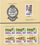 Grenada - Grenadines,  Scott 2014 # 274a + 274b, Issued 1978,  Booklet (Exploded) 0f 2 Panes, MNH,  Cat $ 2.50, Military - Grenada (1974-...)