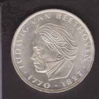 GERMANIA - 5 Mark 1970 F - Ludwig Van Beethoven  - SILBER – ARGENT FDC - 5 Mark