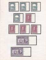 987-988  Plnr. 1-4 + 989 Plnr. 1-2 - Zegels ** MNH - Plakker In De Rand - Cote 36 € - ....-1960
