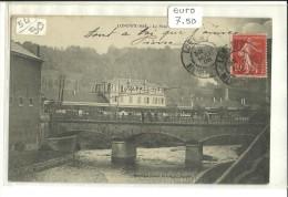 -CPA 54- -LONGWY BAS-------LE PONT-1-------1908---MAGASINS REUNIS- -- - Longwy