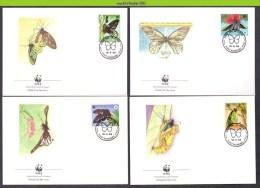 Mwh070fb WWF FAUNA VLINDERS BUTTERFLIES SCHMETTERLINGE MARIPOSAS PAPILLIONS PAPUA NEW GUINEA 1988 FDC´S - Mariposas
