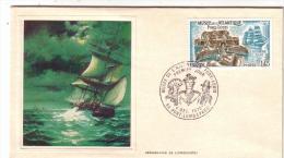 FDC 1ER JOUR MUSEE DE L ATLANTIQUE PORT LOUIS SERIGRAPHIE DE LONGANESI 1.45F 1976 - FDC