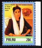 Palau MNH, Benazir Bhutto, 1st Women To Head Muslim State - Religioni