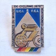Badge / Pin (Cycling) - Italy Monteroni Di Lecce World Championship 1976 UCI FCI - Cycling
