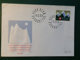 38/225   FDC  SUISSE - Climbing