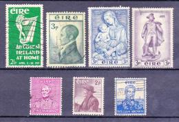 IERLAND - RESTANTEN - 1950 -> 1957 - Nrs° 116,120,122,124,126,130 En 132 Y&T -Gestempeld/oblit. (°) - 1949-... République D'Irlande