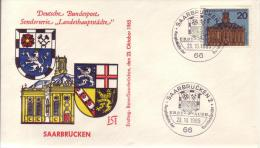 FDC Nr. 427  Hauptstädte Der Länder Der Bund Deutscher Länder, 20 Pf Saarbrücken - FDC: Briefe
