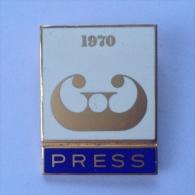 Badge / Pin (Figure Skating) - Yugoslavia Ljubljana World Championship 1970 PRESS - Skating (Figure)
