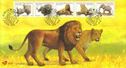 South Africa - 1996 Big Five FDC # SG 821c-g , Mi 993A-997A - FDC
