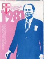 TESSERA D. C. DEMOCRAZIA CRISTIANA 1981 - Documents Historiques