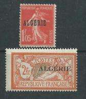 Algérie N° 30 / 31 XX Timbres De France Surchargés,  Les 2 Valeurs (partie De Série) Sans Charnière, TB - Neufs