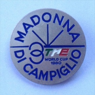Badge / Pin (Figure Skating) - Italy Madonna Di Campiglio World Cup 1980 - Skating (Figure)