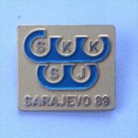 Badge / Pin (Figure Skating) - Yugoslavia Sarajevo World Junior Championship 1989 - Skating (Figure)
