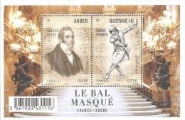 """La Feuille F4706 """"LE BAL MASQUE"""" LUXE. 100% D´augmentation En 1 An. Produit D´avenir; - Fogli Completi"""