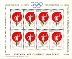POLAND 1964 TOKYO OLYMPICS S/S NHM GLIDER MAIL CINDERELLA RUNNER TORCH OLYMPIC GAMES ATHLE - Shifted 3 - Airmail