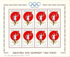 POLAND 1964 TOKYO OLYMPICS S/S NHM GLIDER MAIL CINDERELLA RUNNER TORCH OLYMPIC GAMES ATHLE - 1 - Airmail