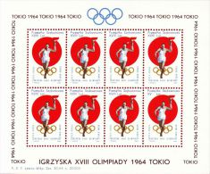 POLAND 1964 TOKYO OLYMPICS S/S NHM GLIDER MAIL CINDERELLA RUNNER TORCH OLYMPIC GAMES ATHLE - 7 - Airmail