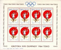 POLAND 1964 TOKYO OLYMPICS S/S NHM GLIDER MAIL CINDERELLA RUNNER TORCH OLYMPIC GAMES ATHLE - 8 - Airmail