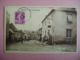CP ANOST  RUE PRINCIPALE - ECRITE EN 1933 - France